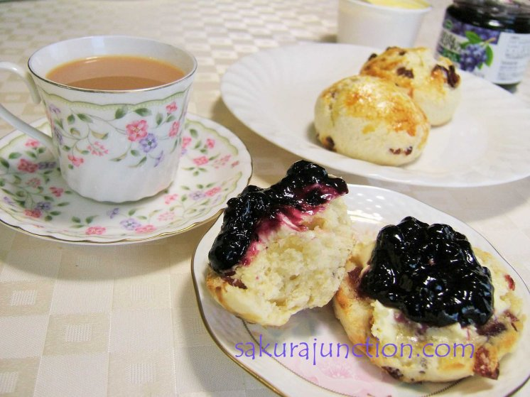 Afternoon Tea with Cranberry Scones