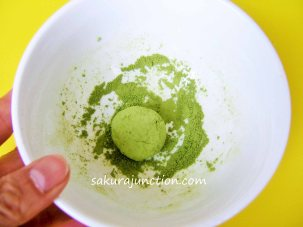 Anko rolled in Matcha