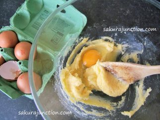 egg mixed in