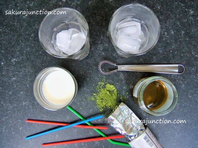 Matcha Soy Milk Preparation