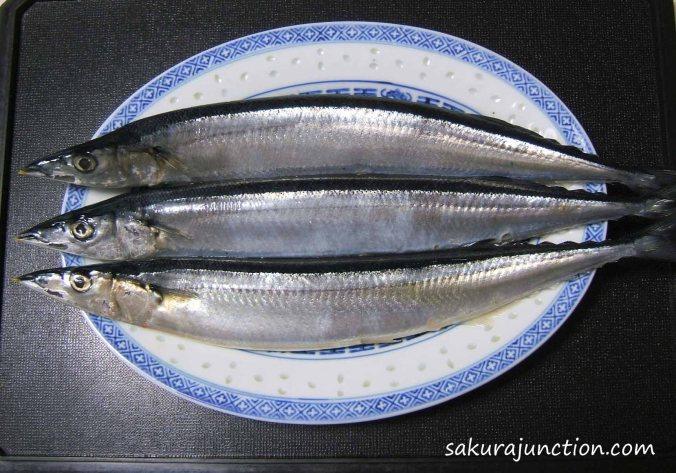 Sanma on plate