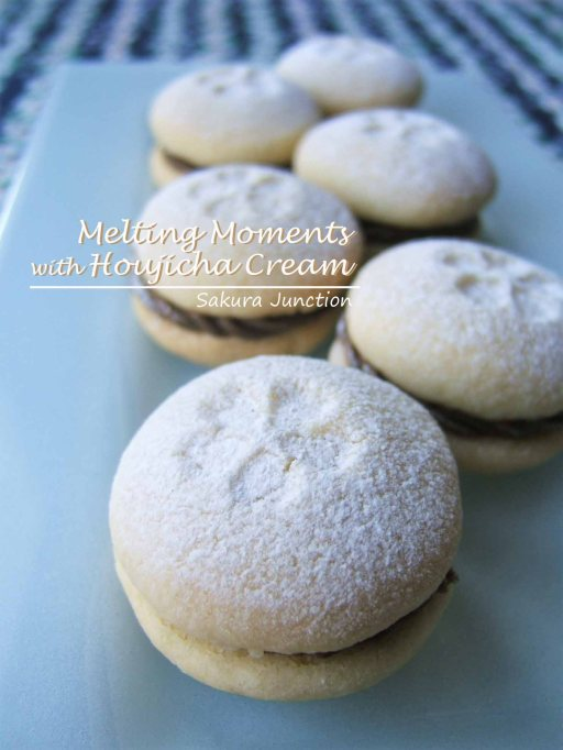 Melting Moments with Houjicha Cream double 2