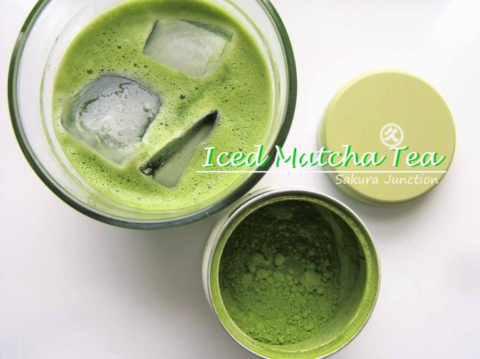 Iced Matcha Tea with tea powder