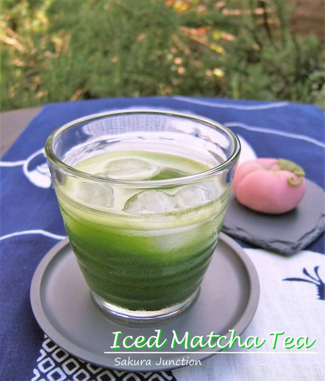 Iced Matcha Tea with Wagashi