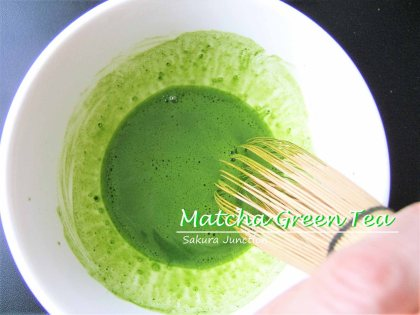 Matcha mixed with water