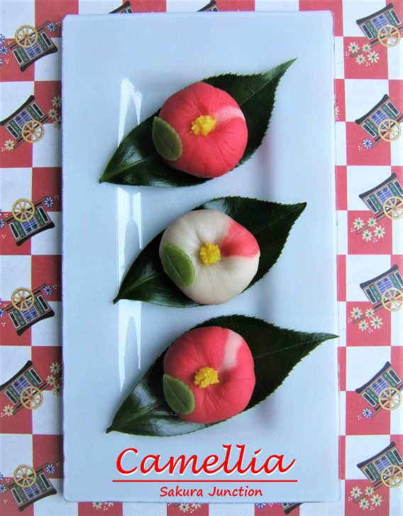 camellia-Wagashi Nerikiri London Japanese Sweet