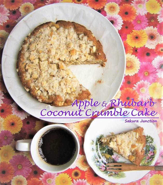 Apple & Rhubarb Crumble Cake-2
