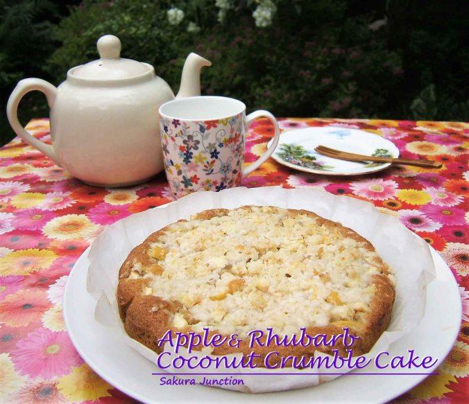 Apple & Rhubarb Crumble Cake4