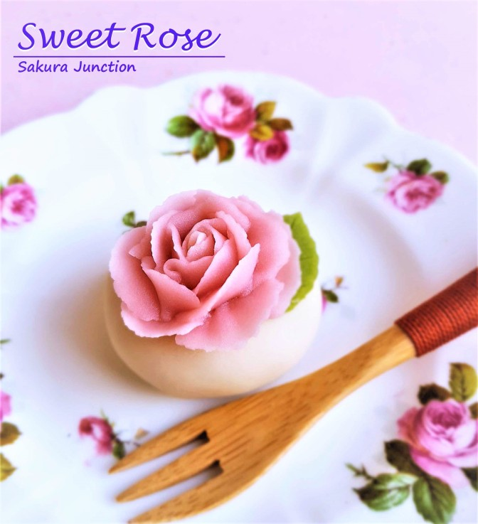 Rose Japanese sweet wagashi London