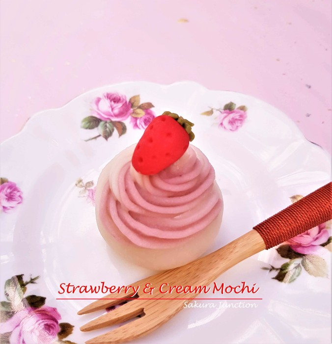 Strawberry & Cream Mochi 3