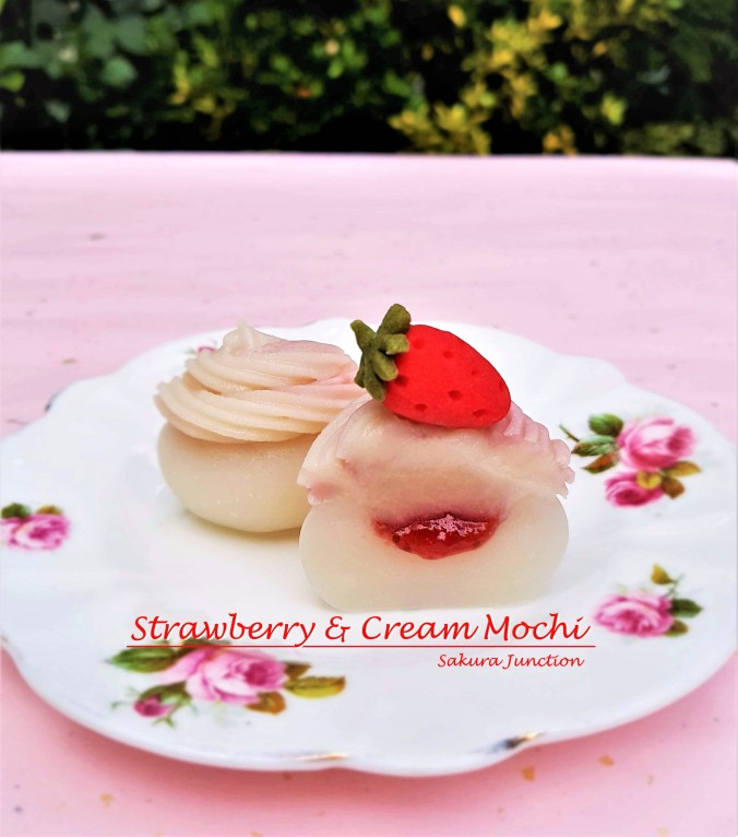 Strawberry & Cream Mochi 4