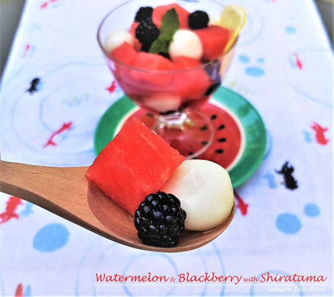 Watermelon & shiratama2