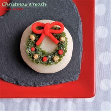 Christmas Wreath Wagashi Japanese food sweets dessert London