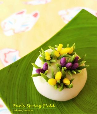Spring Field Crocus Wagashi Japanese sweets dessert food London