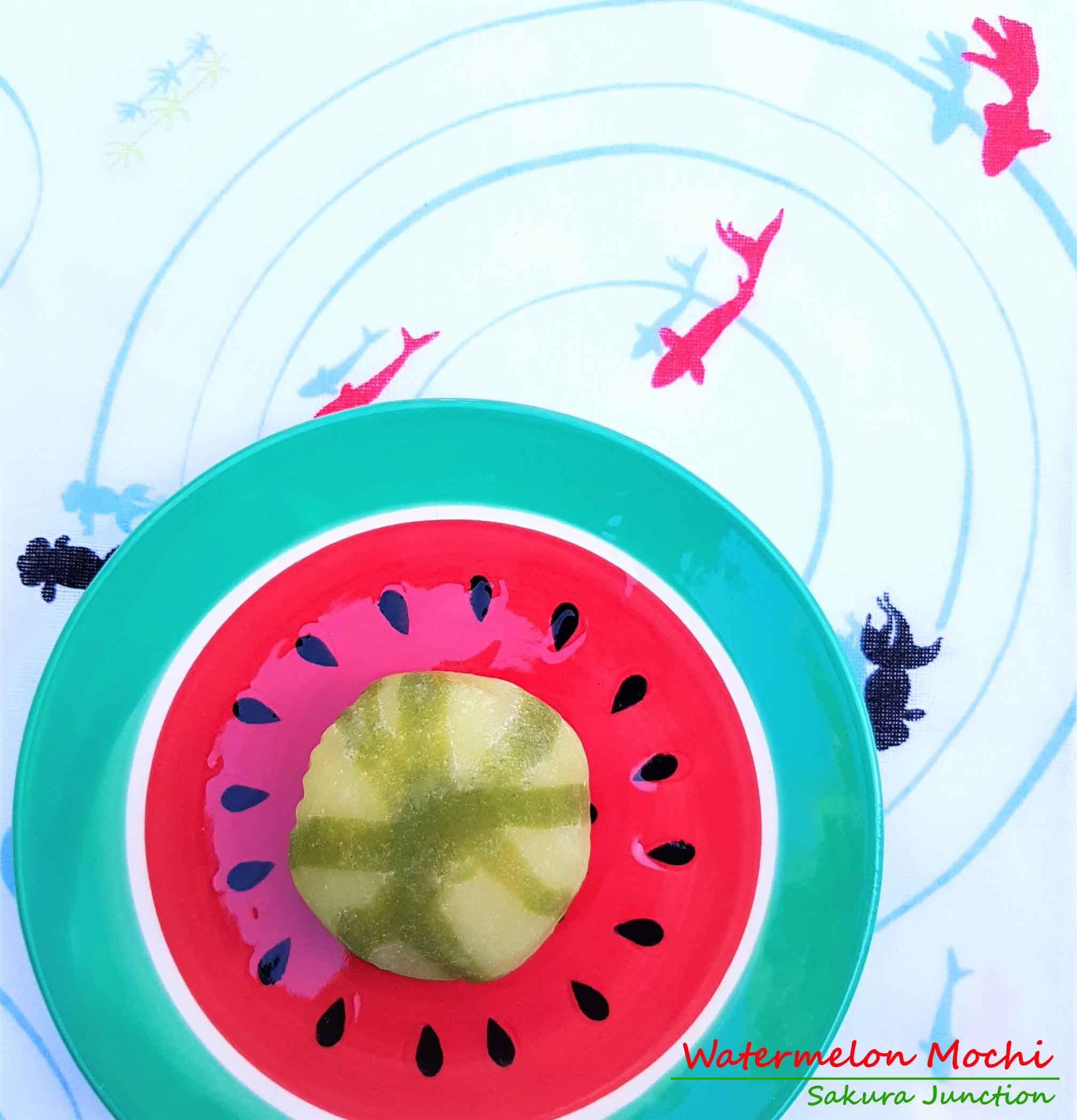 Watermelon Mochi